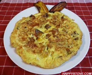 Plantains Omelette - By happystove.com