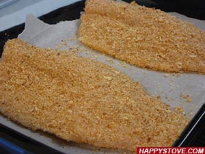 Oven Baked Breaded Tilapia - By happystove.com