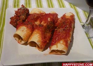 Meatball Cannelloni with Tomato Sauce