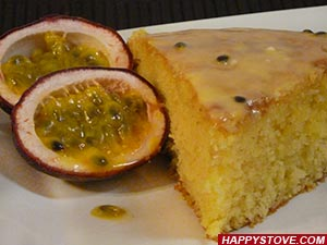 Passion Fruit and Yogurt Cake - By happystove.com