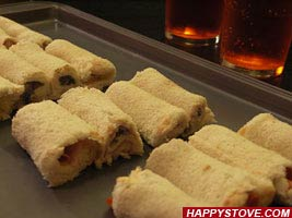 Cocktail sauce and Ham Tramezzini Rolls - By happystove.com