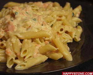 Penne Pasta with Smoked Salmon