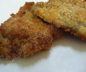 Breaded and Fried Veal Schnitzel - By happystove.com