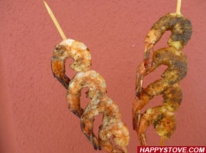 Seasoned Grilled Shrimp Skewers - By happystove.com
