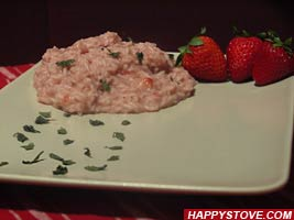 Strawberries Risotto