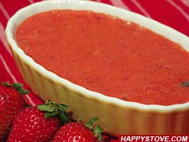 Strawberries Topping Sauce - By happystove.com