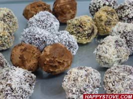 Dark Chocolate Truffles - By happystove.com