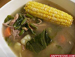 Turkey and Vegetables Broth Soup - By happystove.com